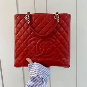 Chanel small GST in Caviar Leather